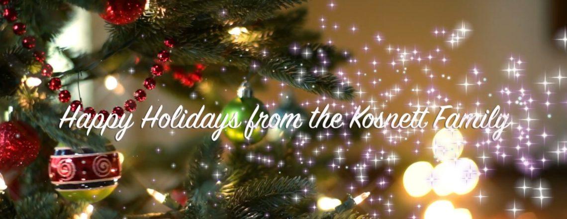 Happy Holidays from the Kosnett Family!