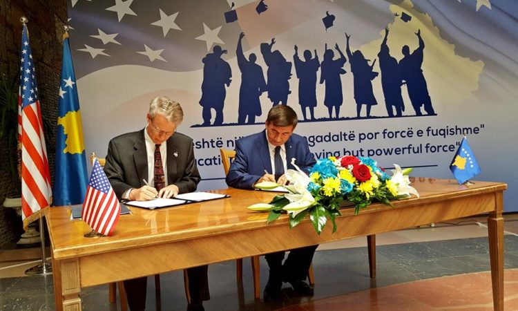 The signing of the Fulbright MOU