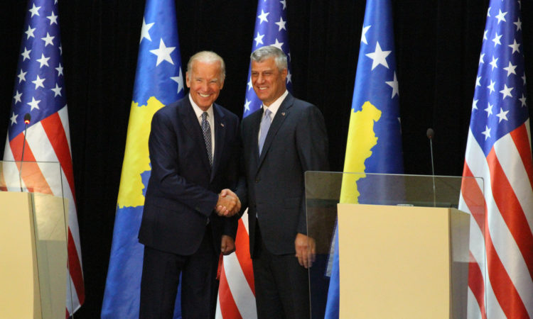 Remarks by Vice President Joe Biden at the conclusion of a bilateral meeting with President Hashim Thaci