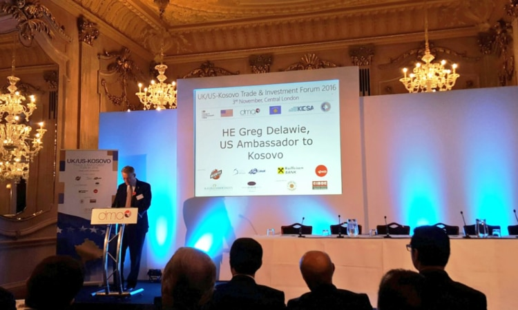 Ambassador Delawie's Remarks at UK/U.S.-Kosovo Trade &  Investment Forum November 3, 2016