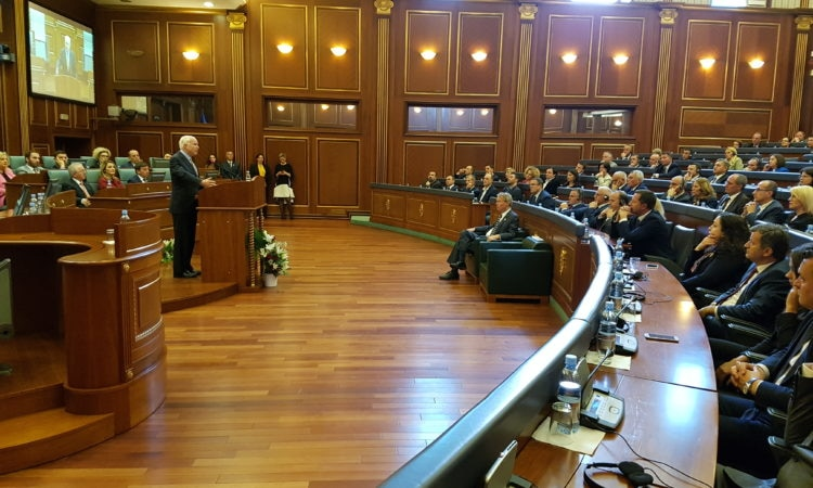 Senator McCain Address Kosovo Assembly