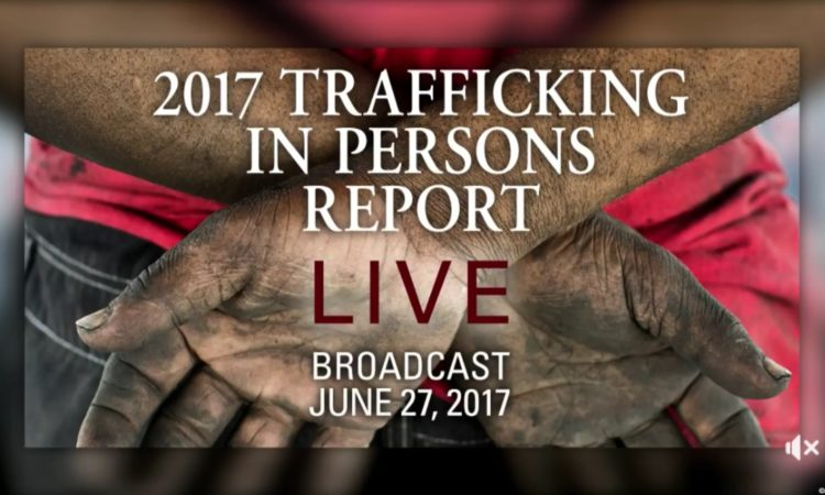 Watch live: Secretary Tillerson hosts the annual Trafficking in Persons Report Launch Ceremony