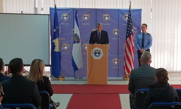 Ambassador Kosnett at the Kosovo Police Training